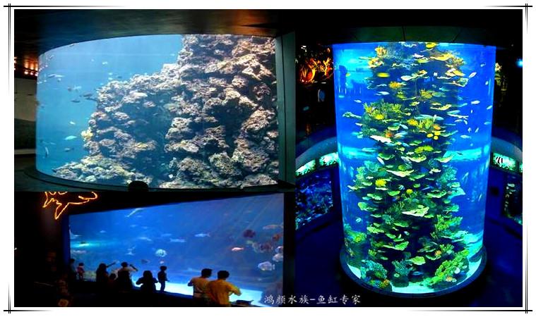 大型圆柱形鱼缸